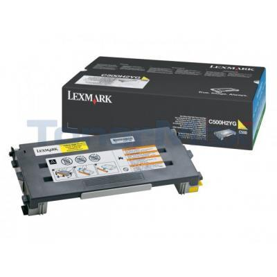 LEXMARK X500 X502 TONER CARTRIDGE YELLOW 3K